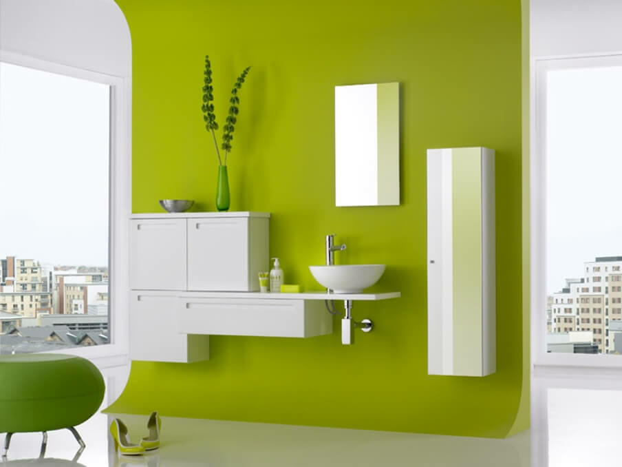 How to Use the Color Green to Add Life and Cheer to Your Bathroom