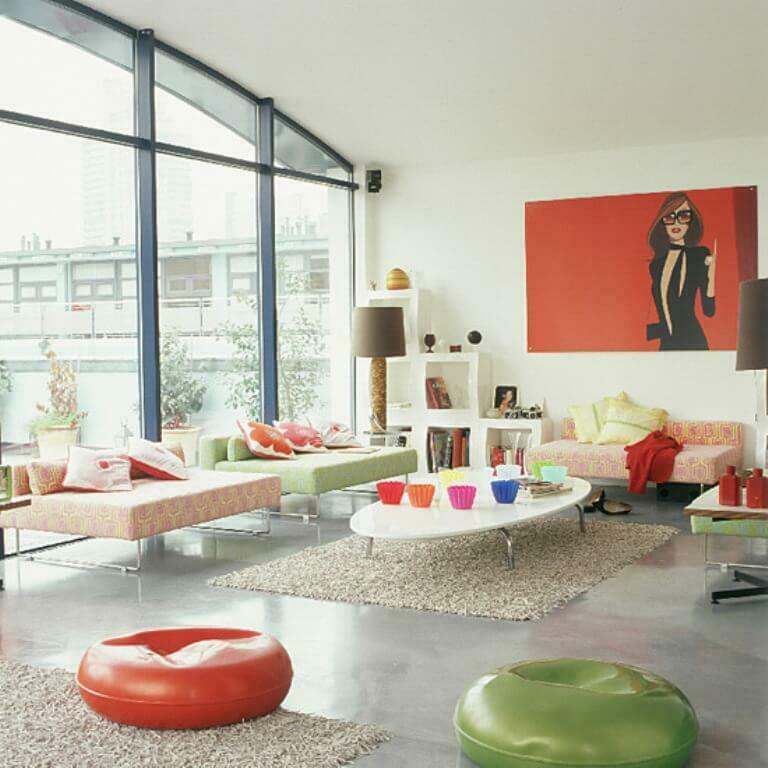 Add Some Vibrant Color and Funkiness to Your Living Room with Pop Art!