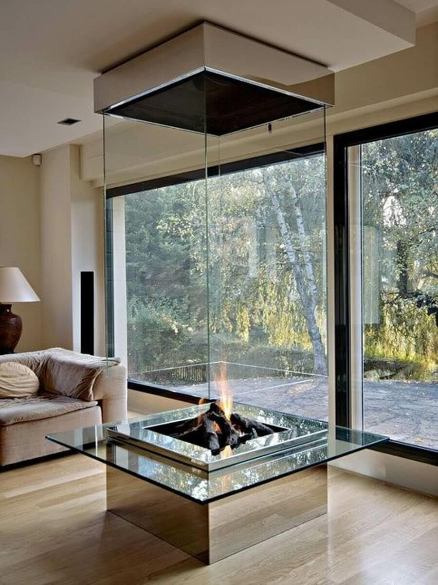 Gorgeous Glass Fireplaces for the Living Room